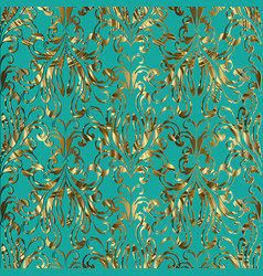 damask baroque gold seamless pattern vector image