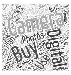 Digital photography camera Word Cloud Concept vector