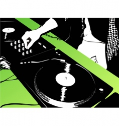 DJ music background vector