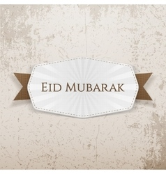 Eid Mubarak Badge with Ribbon vector