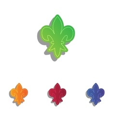Elements for design Colorfull applique icons set vector image vector image
