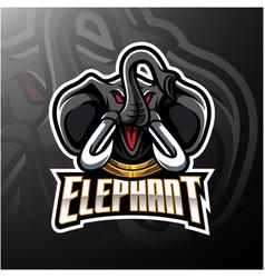 elephant head mascot logo design vector image