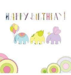 Elephants in cartoon style vector