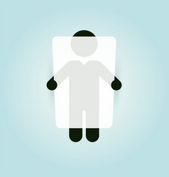 figure of a man holding a whiteboard vector image