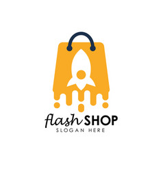 flash sale logo icon design template flash shop vector image