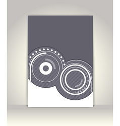 Flyer or brochure template abstract design vector image vector image
