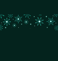Full hd green shine snowflakes and stars elements vector