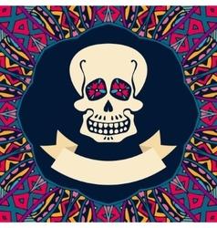 Halloween greeting background vector image