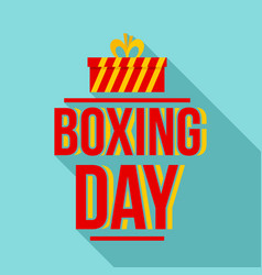happy boxing day logo set flat style vector image