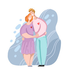 happy couple hugging and laughing relationships vector image