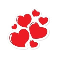 Heart Form Sticker vector