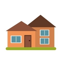 House suburban architecture green grass vector