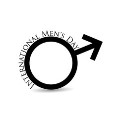 international mens day mars symbol male sign is vector image