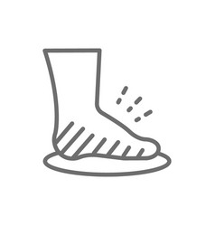 leg swelling edema obesity fat foot line icon vector image