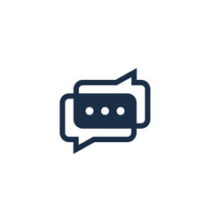 link chat logo icon design vector image