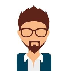 Man avatar isolated icon design vector
