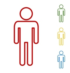 Man sign Set of line icons vector