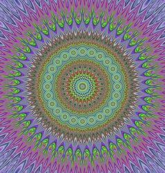 Mandal explosion - geometric floral design vector