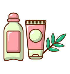 Massage cream icon cartoon style vector