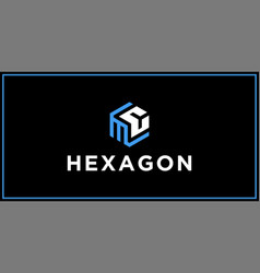 mc hexagon logo design inspiration vector image