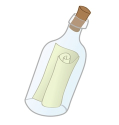 message in bottle vector image