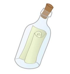 messge in bottle vector image vector image