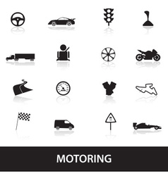 Motoring icons eps10 vector