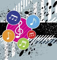 Music festival background design vector