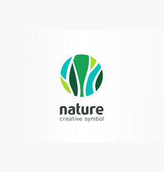 nature creative symbol organic concept bio herbal vector image