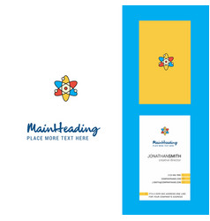 nuclear creative logo and business card vertical vector image