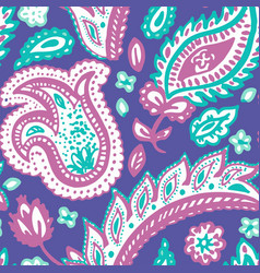 Paisley pattern background indian floral vector