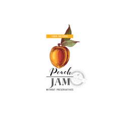 peach jam logo template vector image