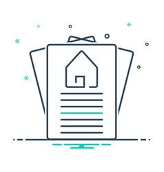 Property paper vector