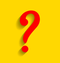question mark sign red icon with soft vector image
