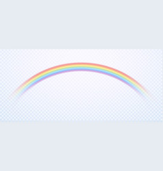 realistic rainbow colorful rain sky rainbows vector image