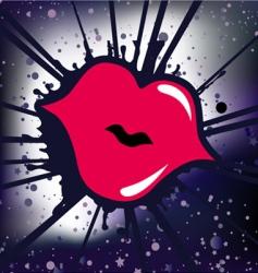 retro lips vector image