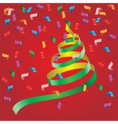 Shiny streamers or party serpentine vector image