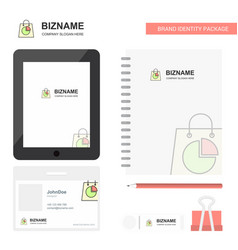 shopping bag business logo tab app diary pvc vector image