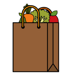 shopping bag with vegetables vector image