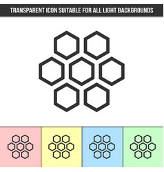 simple outline transparent honeycomb icon on vector image