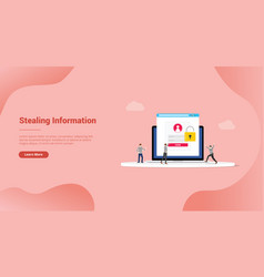 stealing information digital hacking thief vector image