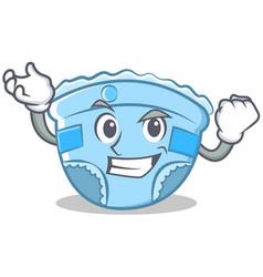 successful baby diaper character cartoon vector image