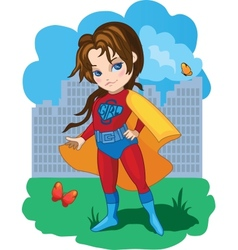 Super Girl vector image