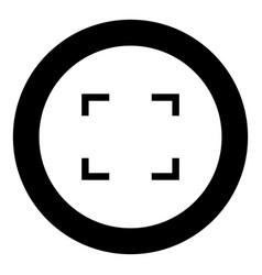 Symbol full screen icon black color in circle vector