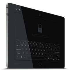 Tablet Left Side View Vertical vector