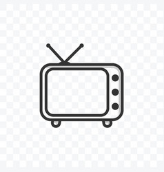 television icon on transparent background vector image