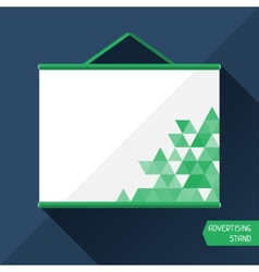 template advertising stand vector image