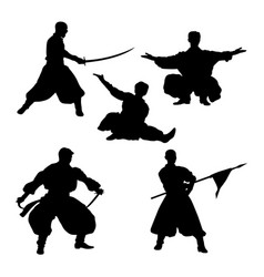 Theatrical performance silhouettes 01 vector