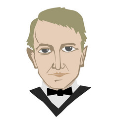 Thomas edison american inventor vector