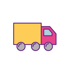 truck delivery logistic transport cargo vector image